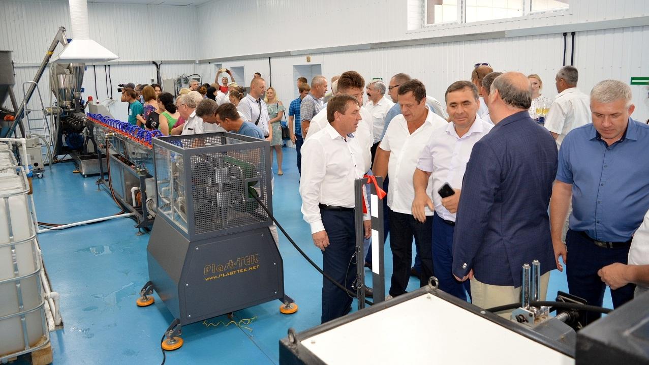 В пгт Первомайское запущена линия компании Plast-TEK по производству микропористого шланга для систем орошения