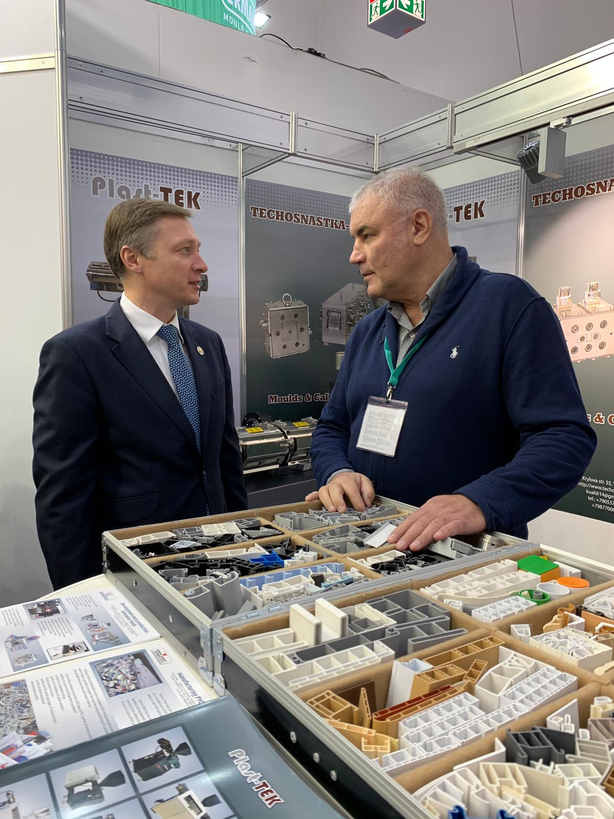 Заместитель Премьер Министра Республики Татарстан Каримов Альберт Анварович посетил наш стенд на выставке K 2019, Messe Dusseldorf